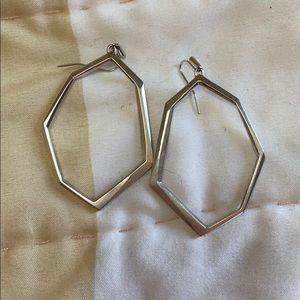 Kendra Scott Silver abstract shape Hoop Earring